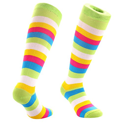 80s Rainbow Stripes Socks
