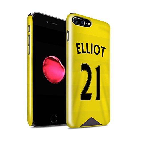 Officiel Newcastle United FC Coque / Clipser Brillant Etui pour Apple iPhone 7 Plus / Anita Design / NUFC Maillot Domicile 15/16 Collection Elliot