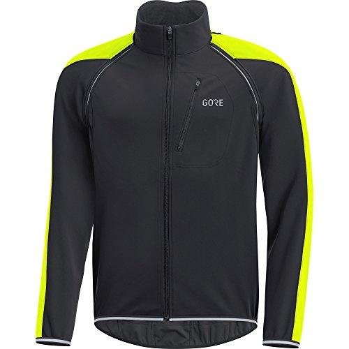 GORE Wear Herren Winddichte Rennrad-Jacke, Abnehmbare Ärmel, GORE C3 GORE WINDSTOPPER PHANTOM Zip-Off Jacket, Größe: M, Farbe: Schwarz/Neon-Gelb, 100190