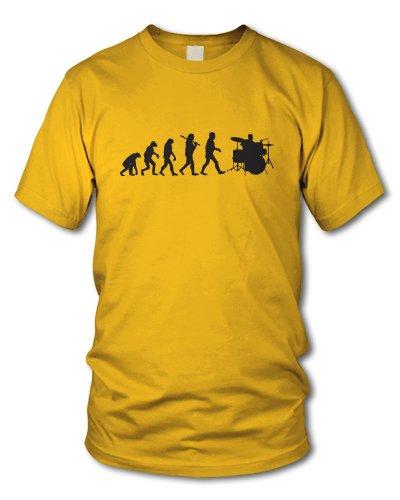 shirtloge - EVOLUTION DRUMMER - KULT - Fun T-Shirt - in verschiedenen Farben - Größe S - XXL Gelb