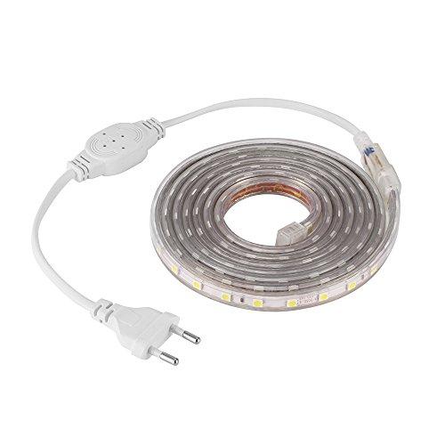 ONEVER 120 LED SMD 5050 LED Lichtleiste, wasserdichte LED Band DIY Home Küche Bar Indoor Party Dekoration Weihnachten Urlaub, Länge einstellbar (1) Urlaub Küche