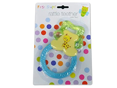 First Steps Water Filled Rattle Teether for Babies 6m+ Safe