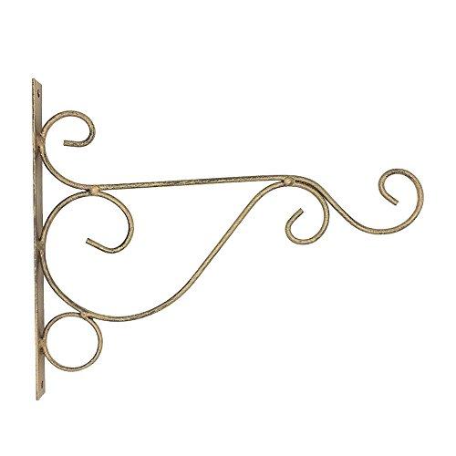 pu ran Metall Eisen Wand Hängebügel Art Plant Halter Aufhänger Haken Home Garten Decor, bronze, S (Bronze-wand-laterne)