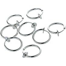 Clip en anillo - TOOGOO(R) 8 Clip en perforacion falsa anillo aro para labio nariz Aretes
