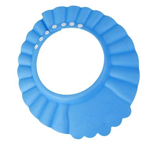 Baby Kind Shampoo Bad Dusche Weichen Hut, Muetze, Haare Waschen Wasserdichte Abschirmung Blau