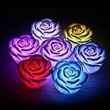 GENERIC 5pcs Colorful LED Rose Flower Fl...