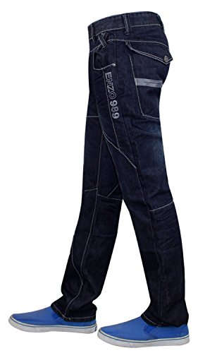 Hommes Jeans de Enzo EZ322 Dark Stone Wash