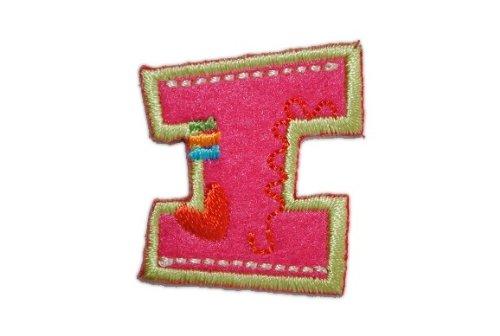 I - BUCHSTABE Bügelbild Aufnäher Applikation einzeln Stück ALPHABET Buchstaben (Apparel Stück Ein)