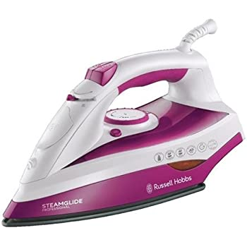 Russell Hobbs Steamglide Professional Iron 19220, 2400 W - White and Pink
