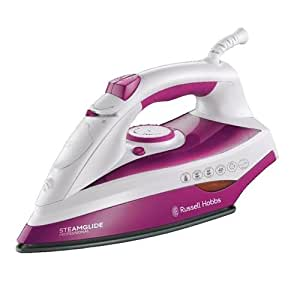 Russell Hobbs 19220 Steamglide Professional Iron, 2400 W - White and Pink