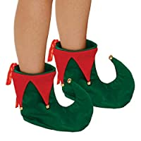 Adults Deluxe Christmas Elf Shoes Fancy Dress