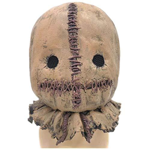 Scary Mädchen Kleine Für Kostüm - JHLD Latex Voll Kopf Masken Halloween Party Requisiten Kostüm Masken-Latex
