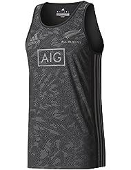 All Blacks Nlle Zélande 2017/18 - Débardeur Entraînement de Rugby Terr - Noir/Granit
