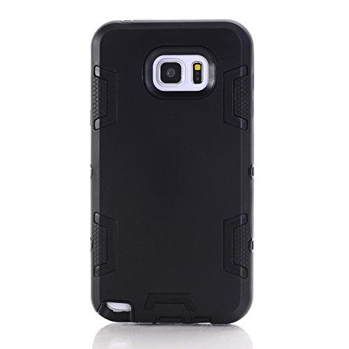 Samsung Galaxy Note 5 Hülle, Forhouse Ultra Slim [TPU + PC][Dual Layer][Roboter-Muster] Schutzhülle [Anti-Rutsch-] Shock-Absorption-Abdeckung für Samsung Galaxy Note 5 (schwarz) (Galaxy Note 3 Fall Roboter)