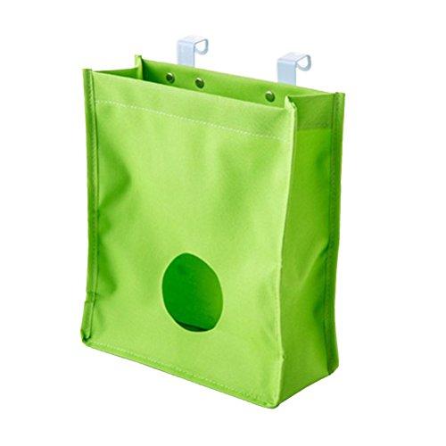 moyad Kunststoff Bag Halter Recycling Tasche und Tasche Spender über der Küche Schrank Schrank, grün -
