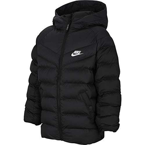 Nike Kinder Filled Jacke, Black/White, M