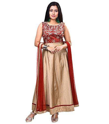 Vedika Creations Maroon Colour Georgette Anarkali Salwar Kameez.