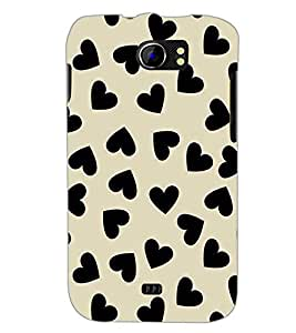 PrintDhaba Heart Design D-1446 Back Case Cover for MICROMAX A110 CANVAS 2 (Multi-Coloured)