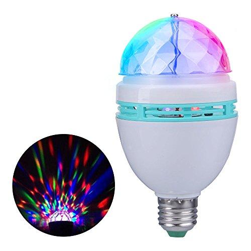 JUDYelc Disco Lights Crystal Ball Stage Light con RGBW LED Party Show de luces para shows de boda Dance Floor Night Club DJ Flashing (Ver. E27)