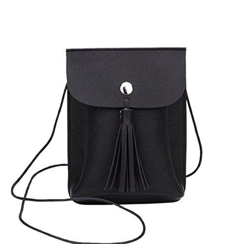 squarex Fashion Quasten Bag Umhängetasche Handy Tasche Münze Tasche Girl 's Schultertasche (Coach-taschen Frauen Für Verkauf)