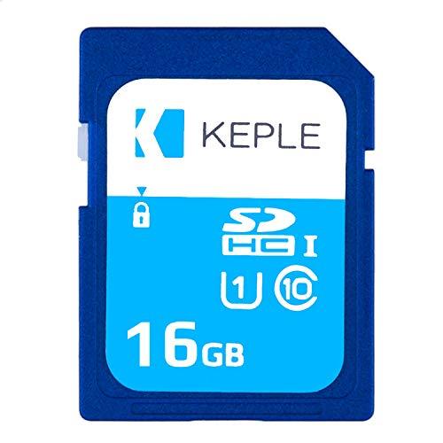 Keple Scheda di Memoria SD da 16 GB Scheda SD ad Alta velocità per Nikon Coolpix W100, B500, B700 SLR Digital Camera | 16 GB Storage SDCard Class 10 UHS-1 U1 SDHC Card for HD Videos & Photos