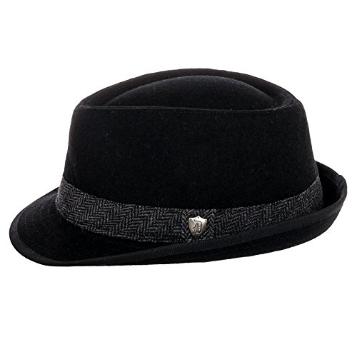 d038a352d41 Dorfman Pacific Men's Wool Blend Fedora Hat with Herringbone Band - Buy  Online in Oman. | Apparel Products in Oman - See Prices, Reviews and Free  Delivery ...