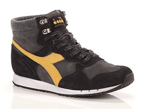 Diadora Heritage, Uomo, Trident Mid S SW, Suede / Pelle, Sneakers Alte, Nero, 40.5 EU