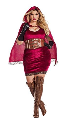 Starline, LLC. Sexy Red Riding Hood Plus Fancy Dress Costume Women's (Red Riding Hood Kostüm Plus)