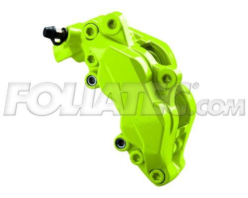 Preisvergleich Produktbild Foliatec Bremssattellack Motorlack Toxic Green Grün für 4 Bremssattel + Reiniger