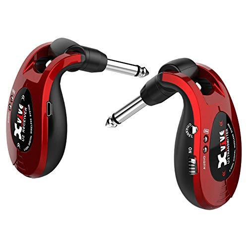 Scheda dettagliata Xvive U2 - Sistema Wireless per Chitarra, Basso e altri strumenti, ricaricabile 2.4GHz, Trasmettitore/Ricevitore digitale, colore: Rosso Metallizzato