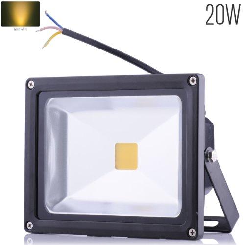 10W/20W/30W/50W/70W/100W/200W warmweiß mit schwarz Aluminium Gehäuse IP65 wasserdicht LED Lampe Squre Wandleuchter Fluter Flutbeleuchtung Flutlicht Scheinwerfer Außenstahler Leuchtmittel Energiesparend (20 Watt) (Led-weihnachts-beleuchtung Warme)