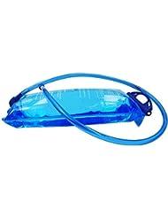 Portátil 2litros Bolsa de hidratación burbujas de agua con 4en 1Kit de limpieza para mochila de hidratación, FDA Autorizada, tadellos de burbujas y sin BPA TPU Material, apertura grande., azul