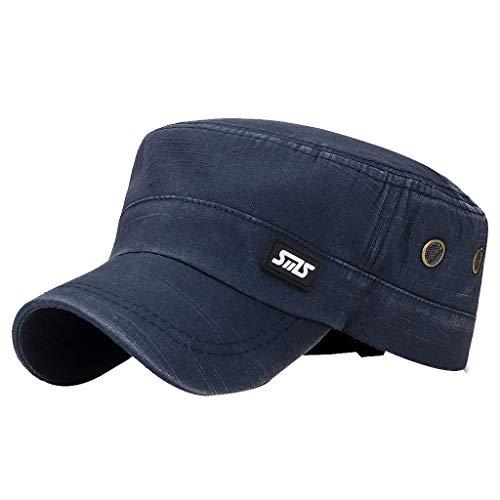 Fenverk Herren Baseball Cap Classic Vintage Cotton Basecap Snapback Caps Outdoor Kappe MüTze Unisex Kappen Hut Frauen MäNner(J Navy) -