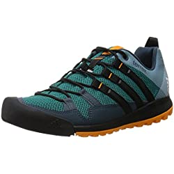 adidas Terrex Solo, Zapatillas de Running para Asfalto Hombre, Verde (Green/Core Black/Orange), 45 1/3 EU