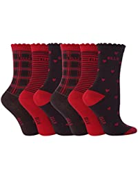 Elle - Chaussettes -  Fille Rouge Red/BROWN