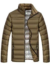Chaqueta De Invierno Hombre Chaqueta de Pluma Hombres Abrigo de Invierno Abrigo Parka Deportiva Chaquetas Outwear Casual Jacket Cazadora Mangas Largas Cierre De Cremallera Outwear Tops