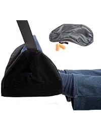 Benbulben: pack de accesorios de viaje portátil con reposapiés, antifaz y tapones para los oídos para viajar en avión, coche o autobús