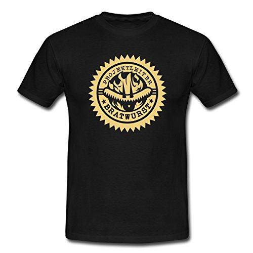 Projektleiter Bratwurst Grillen BBQ Männer T-Shirt von Spreadshirt®, L, Schwarz