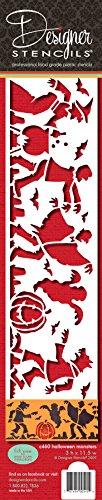 Designer Schablonen C460Halloween Monster Kuchen Seite Kuchen, Schablone, (Hexe, Dracula, Ghost, Werwolf, Frankenstein), beige/halbtransparent