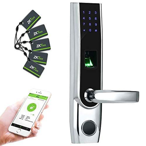 ZKTeco TL400B Serrure Biométrique contrôle d'accès électrique Smart Lock  biométrique avec reconnaissance des empreintes digitales et Bluetooth (main