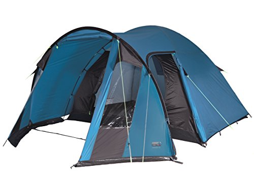 High peak tessin 5, tenda unisex - adulto, blu/marrone scuro, 300 x 380 x 190/170 cm
