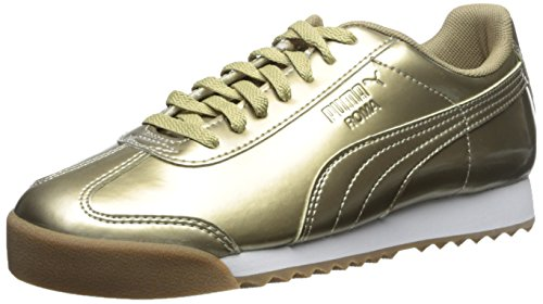 Puma Roma Patent Ano Jr Synthétique Baskets Metallic Gold-White