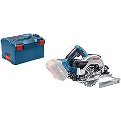Bosch Professional Scie Circulaire Electrique Sans Fil GKS 18 V-57 G Solo Click&Go avec L-Boxx Livrée sans Batterie ni Chargeur