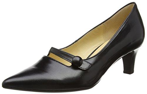 Gabor Charity, Damen Pumps, Schwarz - Schwarz (Schwarzes Leder) - Größe: 40 EU(6.5 UK) (Ballet Flat Liebe)
