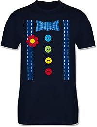 Karneval   Fasching - Clown Kostüm blau - Herren T-Shirt Rundhals cc0878b276
