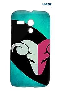 Lorem Back Cover For Moto G (X1032)-Green & Pink-L27303