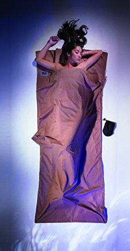 Baumwolle Gewebt Shirt (Cocoon Ägyptische Baumwolle Travel Sheet Baumwollschlafsack, Braun, 220 x 90 cm)