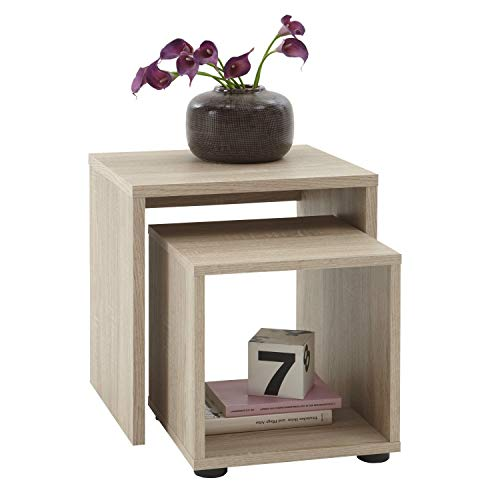 Sb-Design - Juego de 2 mesas auxiliares (45 x 48 x 40 cm, madera ...