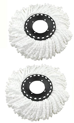 Namaskaram Pack Of 2 Replacement Head Refill For Rotating Spin Mop Cleaner (Pack Of 2)  available at amazon for Rs.185