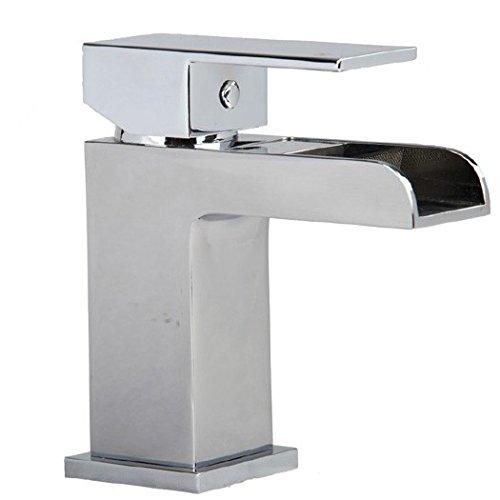 Moderner quadratischer offenem Auslauf Einhebel Waschtischarmatur Wasserhahn (Sire 1)